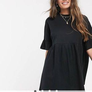 Asos Petite Smocked Oversized T-Shirt Dress